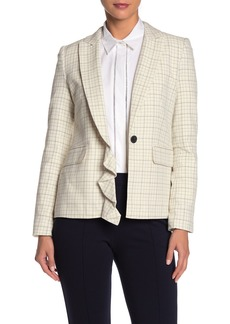 Joie Villette Asymmetrical Plaid Jacket