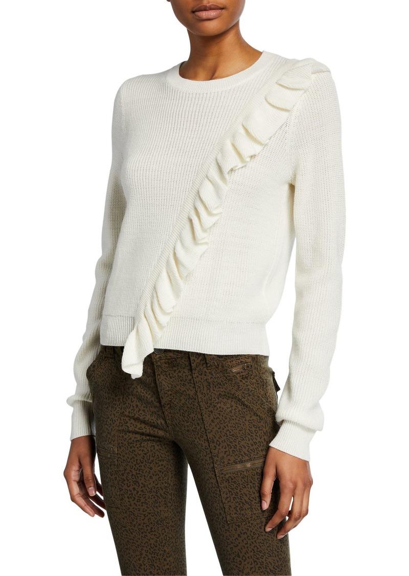 Joie Viviana Ruffle Pullover Sweater
