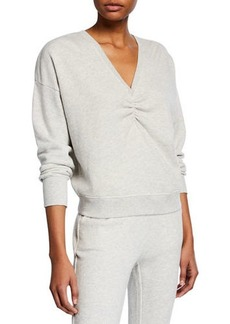 Joie Warda V-Neck Cotton Sweatshirt