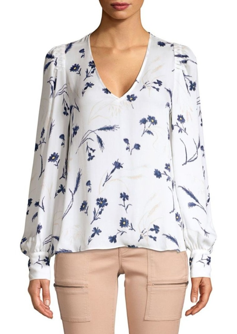 Joie Yadra Silk Floral Popover Blouse