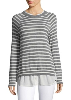 Joie Zaan E Striped Twofer Sweater
