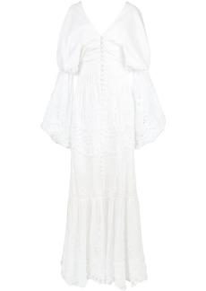 Jonathan Simkhai embroidered off-the-shoulder dress