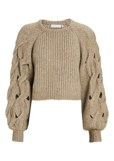 Jonathan Simkhai Alexa Cable Knit Sleeve Sweater