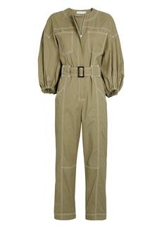 Jonathan Simkhai Annika Puff Sleeve Cotton Jumpsuit