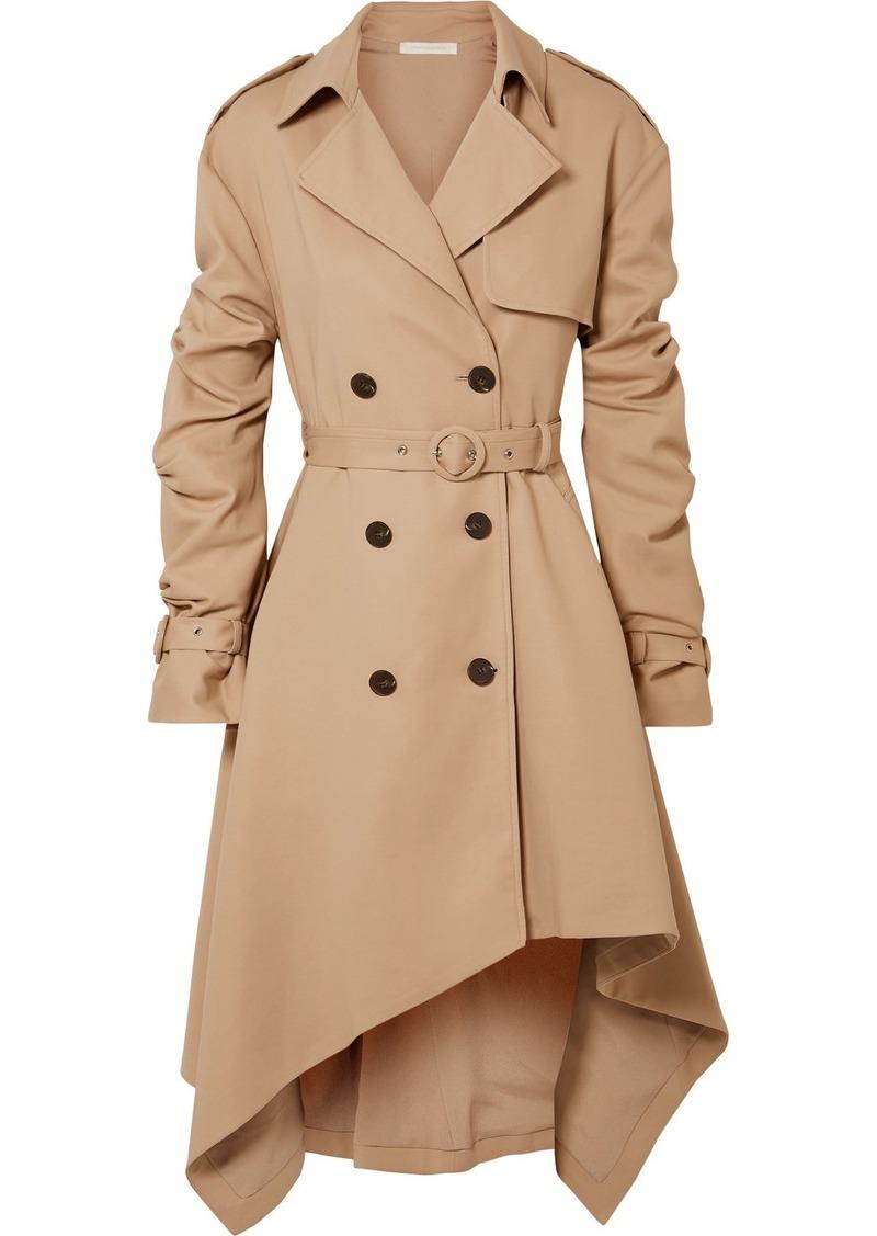 Jonathan Simkhai Asymmetric Cotton-twill Trench Coat