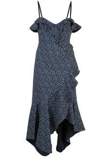 Jonathan Simkhai asymmetric speckled-print dress