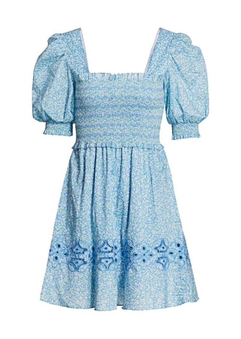 Athena Floral Smocked Capri Dress