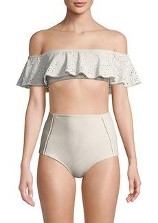 Jonathan Simkhai Bandeau Ruffle Bikini Top