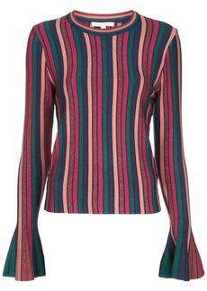 Jonathan Simkhai bell sleeve striped sweater