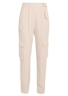 Jonathan Simkhai Belted Sateen Cargo Pants