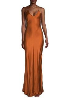 Jonathan Simkhai Bias-Cut Satin Dress