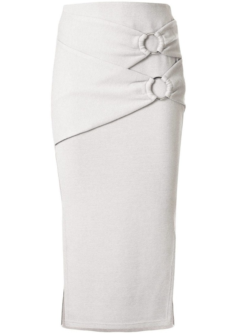 Jonathan Simkhai buckle-detail midi skirt