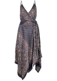 Jonathan Simkhai camisole wrap scarf print dress