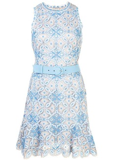 Jonathan Simkhai Charlotte embroidered belted dress