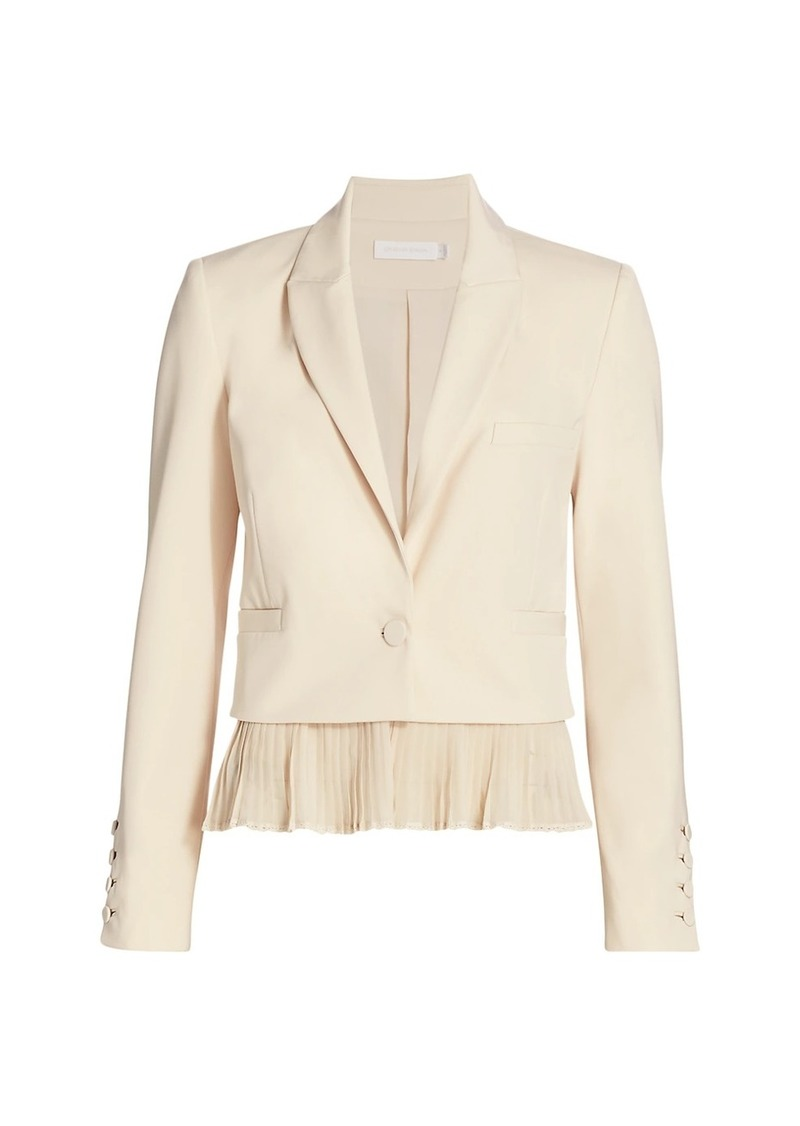 Claired Pleated Hem Cropped Blazer