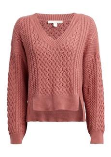 Jonathan Simkhai Cotton-Blend Cable Knit Sweater