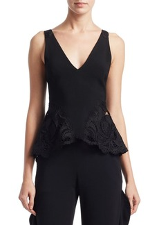 Jonathan Simkhai Crepe Applique Tank Top