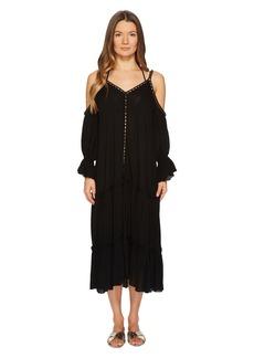 Jonathan Simkhai Crepe Studded V-Neck Dress Cover-Up