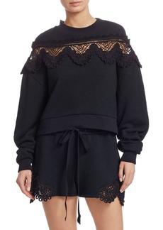 Jonathan Simkhai Crochet Cotton Sweatshirt