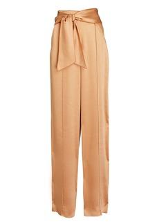 Jonathan Simkhai Demi Tie-Waist Wide-Leg Pants