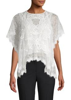 Jonathan Simkhai Dimensional Lace Flounce Top