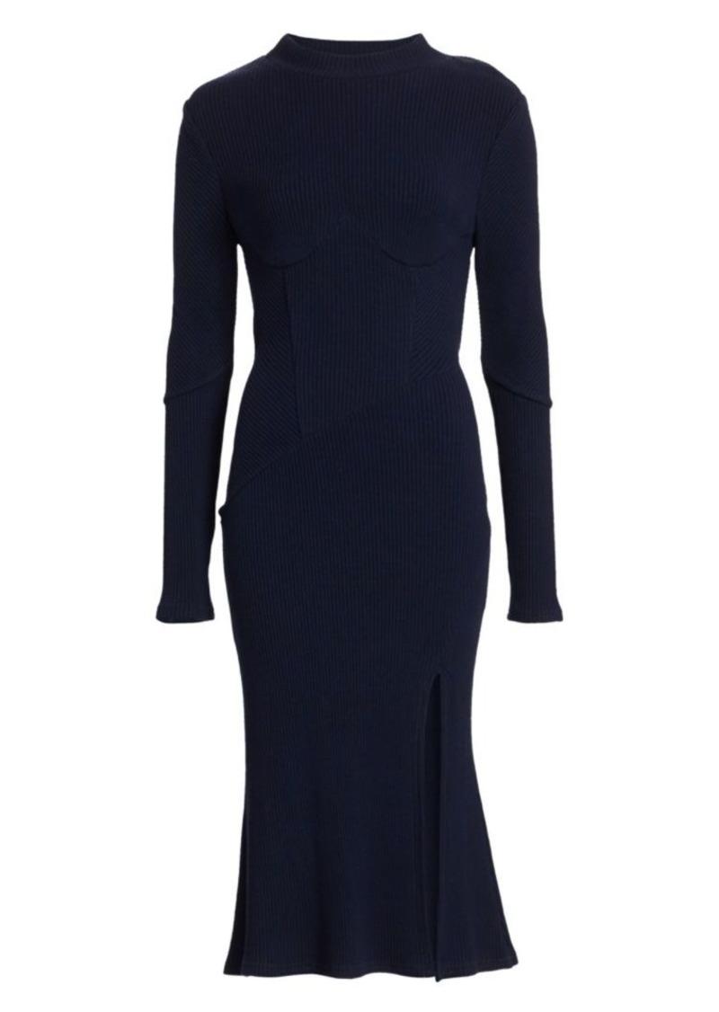 Jonathan Simkhai Directional Rib Knit Dress