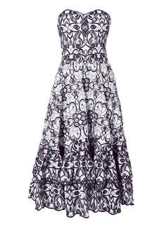 Jonathan Simkhai Embroidered Bustier Midi Dress