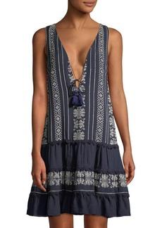 Jonathan Simkhai Embroidered Cotton Voile Dress