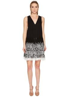Jonathan Simkhai Embroidered Silk Crinkle Mini Dress Cover-Up