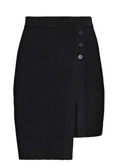 Jonathan Simkhai Emily Asymmetrical Mini Wrap Skirt