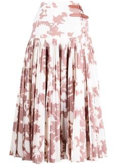 Jonathan Simkhai floral-print pleated skirt