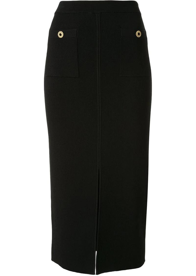 Jonathan Simkhai front-slit midi skirt