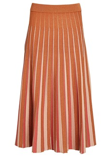 Jonathan Simkhai Gigi Pleated Knit Midi Skirt