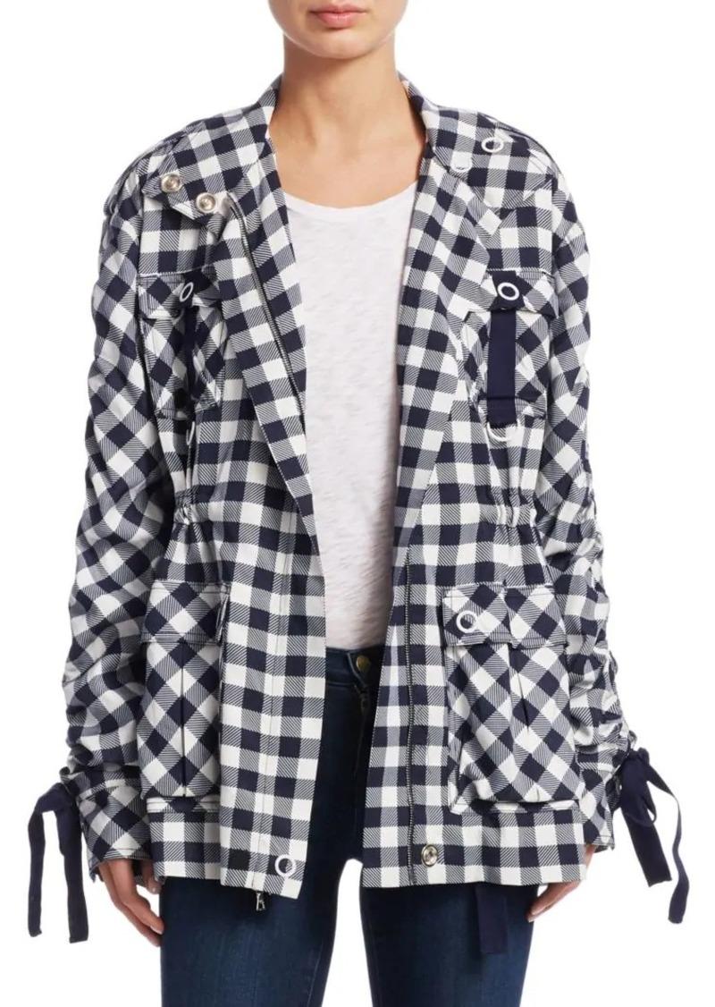 Jonathan Simkhai Gingham Utility Jacket