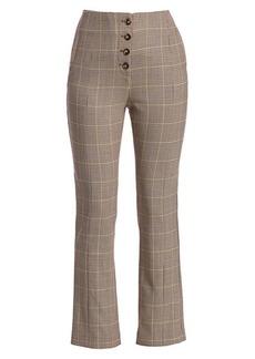 Jonathan Simkhai Glen Plaid Wool-Blend Cigarette Pants