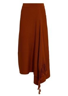 Jonathan Simkhai Grace Draped Fringe Midi Skirt