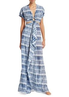 Jonathan Simkhai Hawaiian Sarong-Front Dress