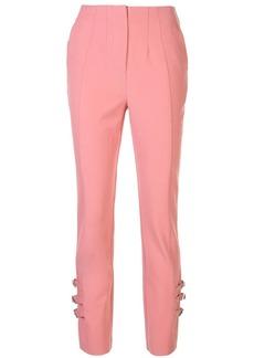 Jonathan Simkhai high-waist buckle trousers