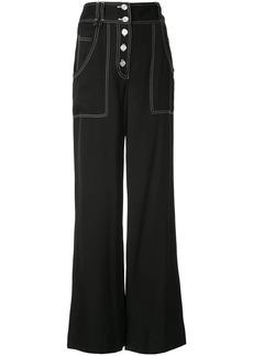 Jonathan Simkhai high-waisted wide-leg trousers