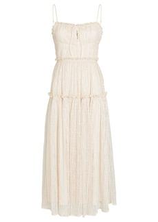 Jonathan Simkhai Ivy Smocked Lace Midi Dress