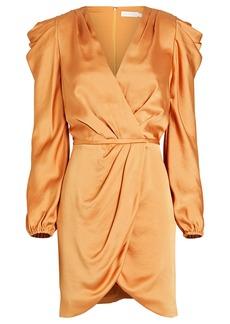 Jonathan Simkhai Jan Ruched Satin Mini Dress