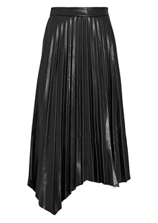 Jonathan Simkhai Jayla Pleated Vegan Leather Skirt