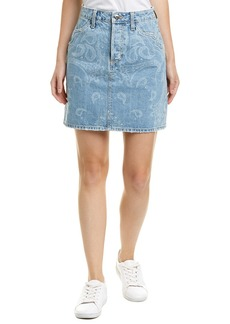 Jonathan Simkhai Johnathan Simkhai Printed Denim Mini Skirt