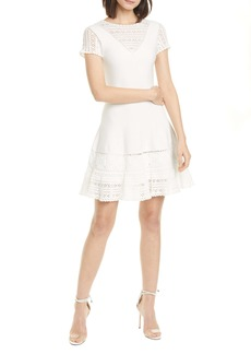 Jonathan Simkhai Alicia Crochet Panel Minidress