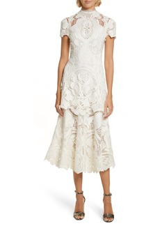 Jonathan Simkhai Appliqué Lace Midi Dress