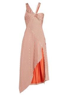 Jonathan Simkhai Asymmetric striped dress