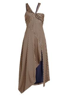 Jonathan Simkhai Asymmetric striped gown