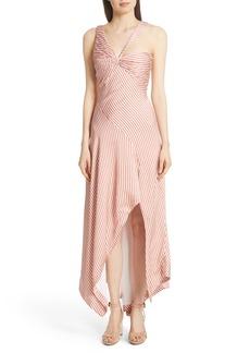 Jonathan Simkhai Asymmetrical Stripe Dress