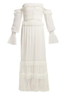 Jonathan Simkhai Corset-style ruffled tulle dress