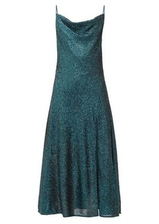 Jonathan Simkhai Cowl-neck sequinned midi dress